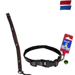 "Fekrix Janes Nylon Collar And Leash Plug 15mm 48""16 Inch"