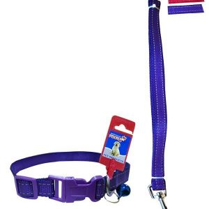 "Fekrix 2 lines Nylon Collar And Leash Plug 20mm 48"" 18 Inch"