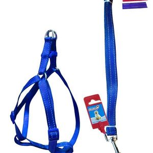 "Fekrix 2 Lines Dog Leash And Harness 15mm 48"" 16-24 Inch"