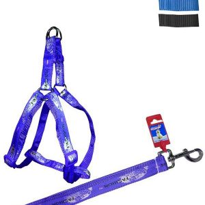 """Fekrix Map Dog Leash And Harness 20mm 48"""" 18-24 Inch"""
