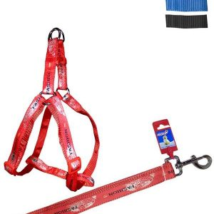 """Fekrix Map Dog Leash And Harness 25mm 48"""" 26-32 Inch"""
