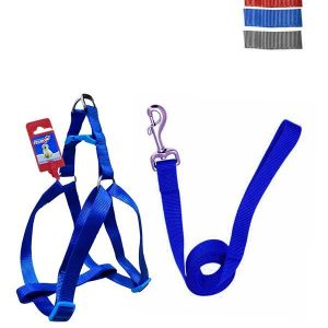 """Fekrix 2 Thick Plain Dog Leash And Harness 25mm 48"""" 22-32 Inch"""