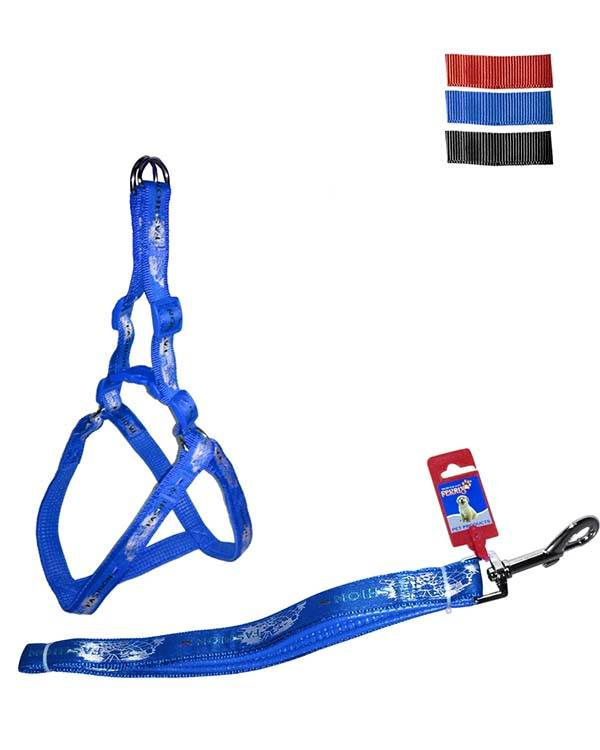 """Fekrix Map Padded Dog Leash And Harness 25mm 48"""" 26-32 Inch"""