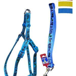 "Fekrix Avonda Dog Leash And Harness 15mm 48"" 16-24 Inch"