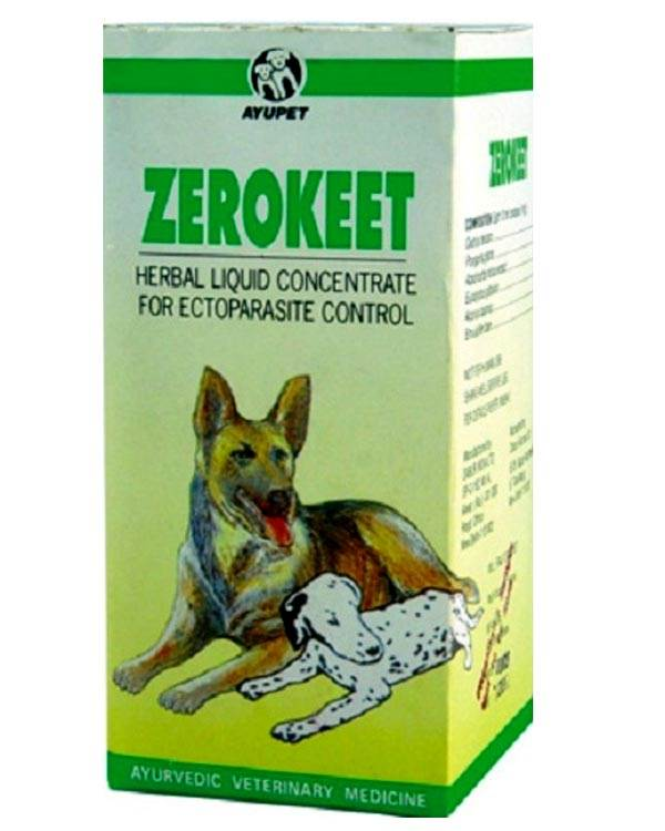 Ayurvet Zerokeet Herbal Skin Liquid 100 Ml Plushytails
