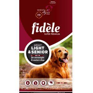 Fidele Adult Dog Food Light and Senior 15 kg