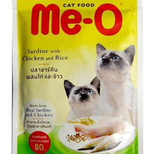 Me-o Chicken and Rice Cats Food in Jelly 80g