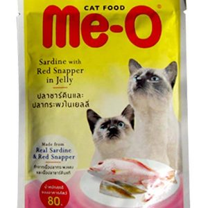 Me-o Red Snapper in Jelly Cats Food 80g