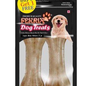 Fekrix Natural Bone Dog Treats Large 2 pc