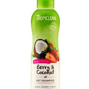 TropiClean Berry and Coconut Deep Cleaning Pet Shampoo 355 Ml