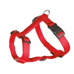 Trixie Classic H-Harness Nylon Strap Fully Adjustable S Ð M, Red