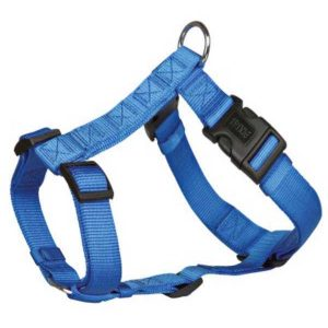 Trixie Classic H-Harness Nylon Strap, Fully Adjustable S Ð M, Blue