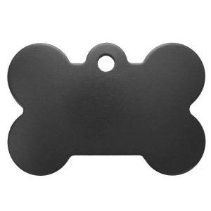 Petscribe Bone ID Tag Black For Dog