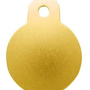 Petscribe Circle Small ID Tag Mustard For Dog