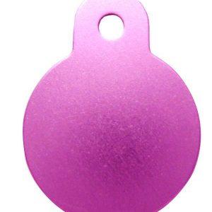 Petscribe Circle Small ID Tag Pink For Dog