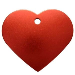 Petscribe Heart ID Tag Red For Dog
