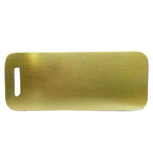 Petscribe Luggage Mustard ID Tag For Dog