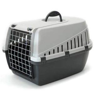 Savic Dog Carrier Trotter2 - Atl. Light Grey - Small - LxWxH - 22x15x13 inch