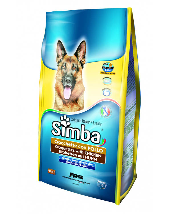 Simba Croquettes With Chicken Dog Food 4 Kg Plushytails