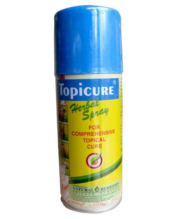Natural Remedies Topicure Herbal Spray 250ml Plushytails