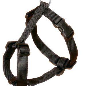 Trixie Classic H-Harness Nylon Strap Fully Adjustable M-L Black