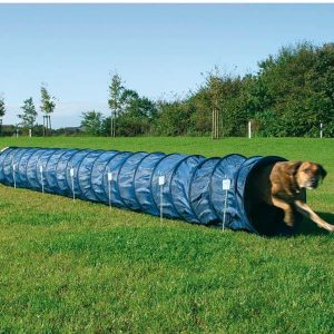 Trixie Dog Activity Agility Sack Tunnel - Blue Fun Game