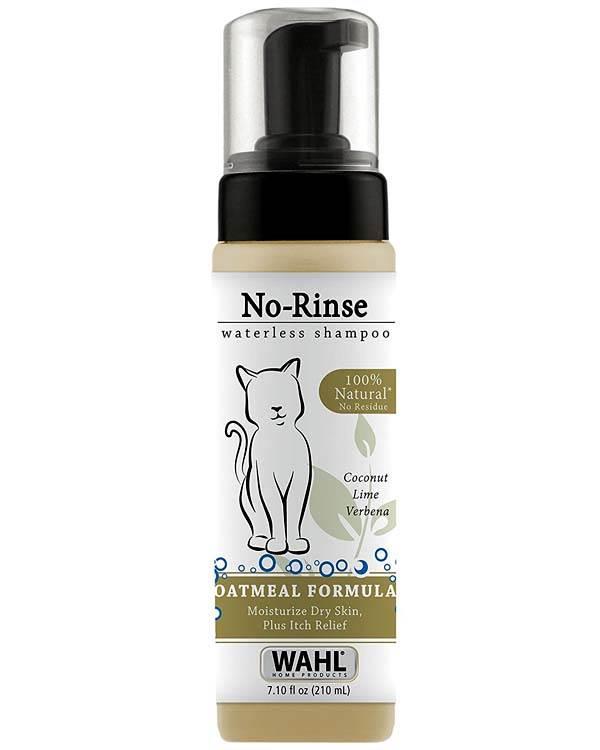 Wahl No Rinse Waterless Oatmeal Cat Shampoo 210ml