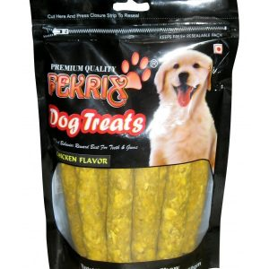 Fekrix Chew Kabab Chicken Flavor Dog Treats 450gm