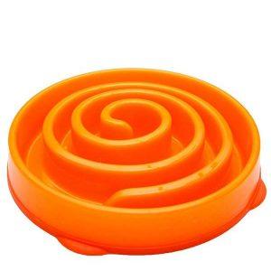 Outward Hound Fun Feeder Mini Slow Feed Bowl Orange