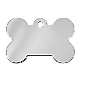 Petscribe ID Tag Chrome Plated with Aurora Crystals - Large