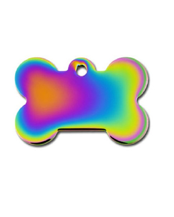 Petscribe Rainbow Bone Id Tag For Dog