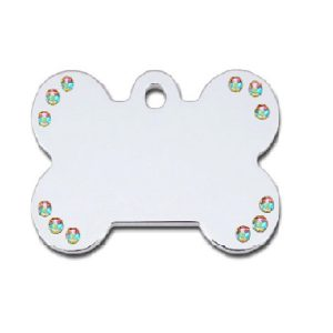 Petscribe Small Diva Clear Bone ID Tag For Dog
