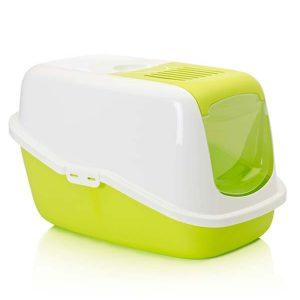 Savic Nestor Cat Toilet (Lemon Green & White)