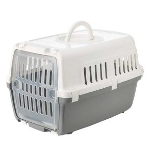 Savic Zephos -1 Pet Carrier (White & Cold Grey)