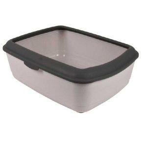 Trixie Classic Easy Cat Litter Tray Grey (Lxbxh - 19x15x6 Inch)